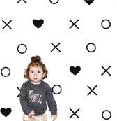 Muursticker figuren set hartje - rondje - kruisje | babykamer - kinderkamer - woonkamer - slaapkamer | hip - modern
