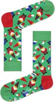 Happy Socks - Happy Holliday Christmas - Garden Gnome - Groen Multi - Unisex - Maat  41-46