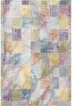 Modern vloerkleed Picasso 610-10 133 cm rond Meerkleurig