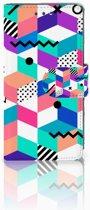 Sony Xperia X Compact Boekhoesje Design Blocks Colorful