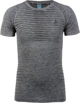 Odlo Bl Top Crew Neck S/S Performance Light Heren Sportshirt - Grey Melange - Maat XL