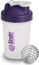 Blender Bottle Classic Big Transparant 590 ml - Paars