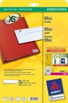 Avery L7656-25 Wit printeretiket