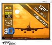 """Manueel Projectiescherm (4:3) - 120""""/3m05 - 244 x 183 cm - mét CSR systeem - beamer scherm"""