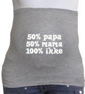 Buikband | S | grijs | 50% papa 50% mama 100% ikke