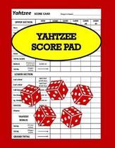 Yahtzee Score Pad: Yahtzee Score Sheets, Board Game Yahtzee, Score Keeper Book, Score Card, Dice Yahtzee, Size 8.5 x 11 Inch