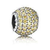 Abstract pave with fancy golden coloured cubic zirconia 791051FCZ