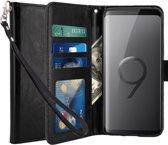 Samsung Galaxy S9 + (Plus) Portmeonnee hoesje / book style case Zwart