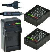 ChiliPower Go Pro Hero 3 Kit (2 accu's + lader +12V autosnoer) CP-GP302-2PCH-EU