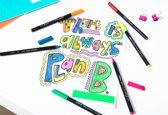 Edding Color Pennen 1200-01 - Zwart - Per Stuk