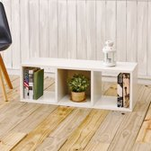way Basics Cozy Bench - Boekenkast - wit
