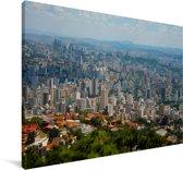 Luchtfoto van het zuiden van Belo Horizonte in Brazilië Canvas 180x120 cm - Foto print op Canvas schilderij (Wanddecoratie woonkamer / slaapkamer) XXL / Groot formaat!