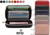 Mini Dames Portemonnee met Anti Skim - Zwart - Bescherming tegen Elektronisch Diefstal