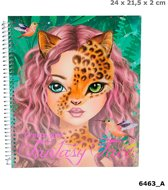 Kleurboek Create Your Fantasy Face Top Model