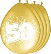 8 stuks jubileum ballonnen 50 jaar