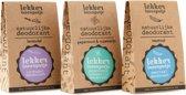 LEKKER IN EEN POTJE natuurlijke deodorant – trioverpakking – 3 x 30 ML