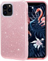 Teleplus iPhone 11 Pro Case Silvery Silicone Pink hoesje