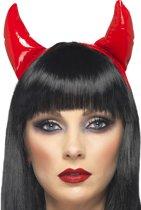 Rode duivelshoorns voor volwassenen Halloween - Verkleedattribuut
