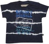 Minymo - jongens t-shirt - tie dye - blauw - Maat 92