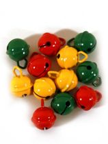 Belletjes 15mm rood/geel/groen R1 per 12 stuks