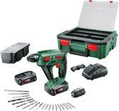 Bosch Uneo Maxx Accuboorhamer - Met 2 accu's, oplader, 19 boren/schroeven en kunststof koffer