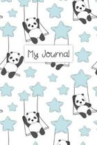 My Journal: Personal Diary for Girls. Blank and Lined Pages with Cute Panda Illustrations, Mood Tracker, Outfit Planner and Highs