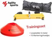 Trainingsset Agility Sports| Loopladder 6 meter | trainingsladder | Speedladder | Pionnenset  | Pion Rood