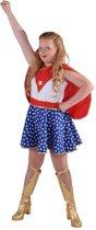 Superwoman & Supergirl Kostuum   Waanzinnig Sterke Super Girl   Meisje   Maat 164   Carnaval kostuum   Verkleedkleding
