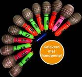 Opblaas microfoon klein, inflatables, opblaasbare microfoon, met handpompjes - 48 stuks