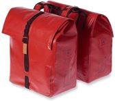 Basil Urban Dry Dubbele Fietstas - 50 Liter - Solid Red