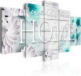 Schilderij - Zomer in Huis III , Welcome Home , 5 luik