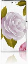 Sony Xperia C5 Ultra Uniek Boekhoesje Roses