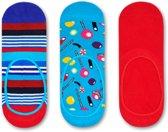 Happy Socks Liner Socks Multi Stripe & Candy 3-Pack, Maat 36/40