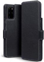 Samsung Galaxy S20 Plus (S20+) hoesje, MobyDefend slim-fit extra dunne bookcase, Zwart - Geschikt voor: Samsung Galaxy S20 Plus