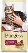 Burgess cat senior rijk aan kalkoen en cranberry kattenvoer 1,4 kg