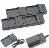USB Oplader voor Nikon MH-18 EN-EL3e Fujifilm NP-150 accu