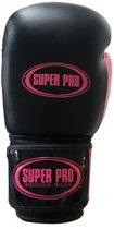 Super Pro Basic Gloves - Black / Pink-8 oz.