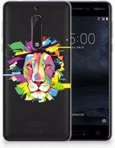Nokia 5 Uniek TPU Hoesje Lion Color