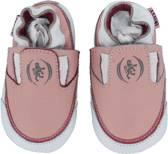 Roze leren loafers, babyslofjes van Oxxy maat 18