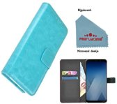 Pearlycase® Wallet Bookcase voor Huawei P20 - Turquoise effen
