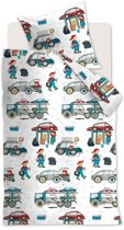 Beddinghouse Kids Car Tools - Dekbedovertrek - Ledikant - 100x135 cm - Multi