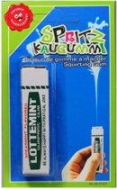 Water spuitend pakje kauwgom