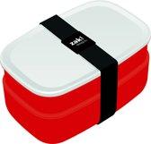 Zak!Designs Lunchbox - Incl. Bestekset - Rood-Wit