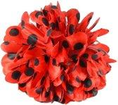 Spaanse haarbloem rood met zwarte stippen - bloem bij flamenco jurk -