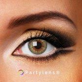 Kleurlenzen 'Clear Green' jaarlenzen inclusief lenzendoosje - groene contactlenzen Partylens®