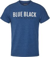 Blue Black Amsterdam Heren T-shirt Tim - Donkerblauw Melange - Maat M