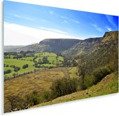 Groen landschap bij het Europese Nationaal park Brecon Beacons Plexiglas 180x120 cm - Foto print op Glas (Plexiglas wanddecoratie) XXL / Groot formaat!