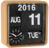Wall clock Mini Flip wood casing, black dial