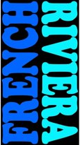 Luxe badlaken/strandlaken grote handdoek 100 x 175 cm Frenchy blauw