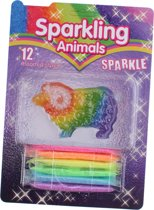 Johntoy Sparkling Animal Schaap 7-delig